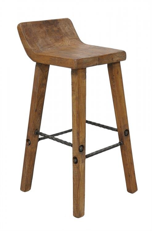 Arturo Reclaimed Boat Wood Bar Counter Stool. Aardvark Home Decor - Reclaimed Wood Counter Stools WB Designs