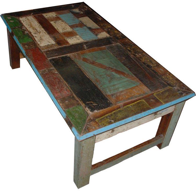 Vintage Multi Color Coffee Table. 51W-28D